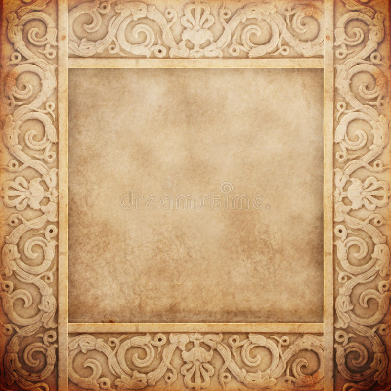 Old marble frame stock photos