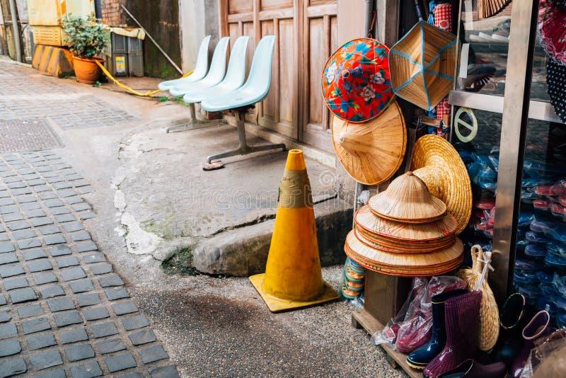 Old market street at Pingxi town in New Taipei City, Taiwan royalty free stock image