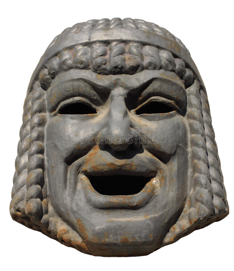 Old mask of a comedy royalty free stock photos