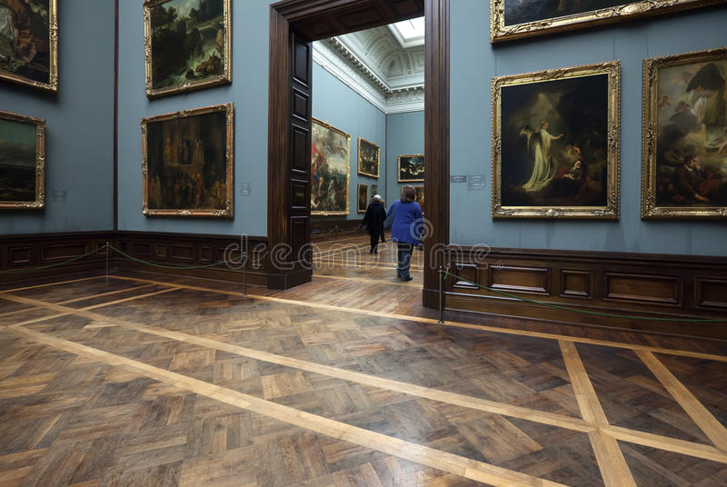 Old Masters Picture Gallery in Dresden royalty free stock images