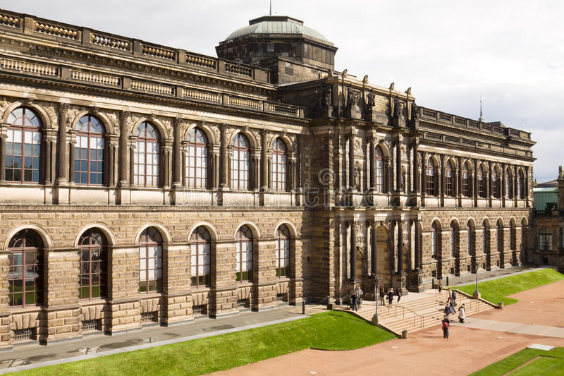 The Old Masters Picture Gallery in Dresden, Germany. The collection of Old Masters is located in the Semper Gallery in Zwinger. The Semper Gallery as seen from royalty free stock images