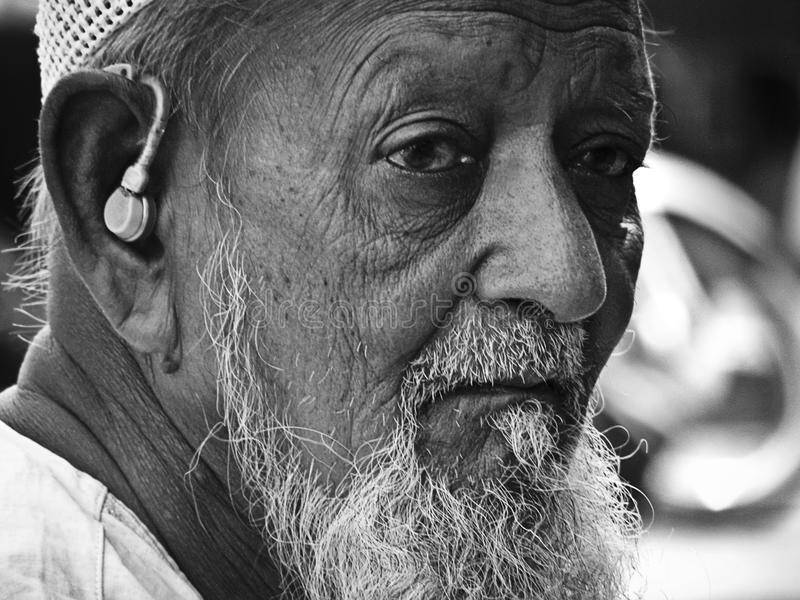Old mature man portrait royalty free stock image