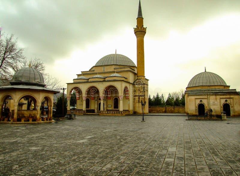 Old mausoleum in Siirt, Turkey Mausoleum of Uveys-i Karni. Historical buildings royalty free stock photos