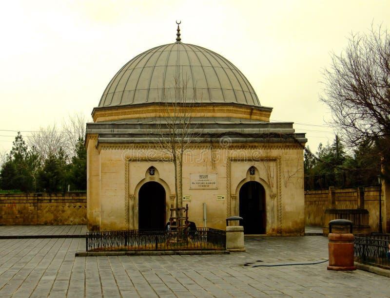 Old mausoleum in Siirt, Turkey Mausoleum of Uveys-i Karni. Historical building exterior stock photography