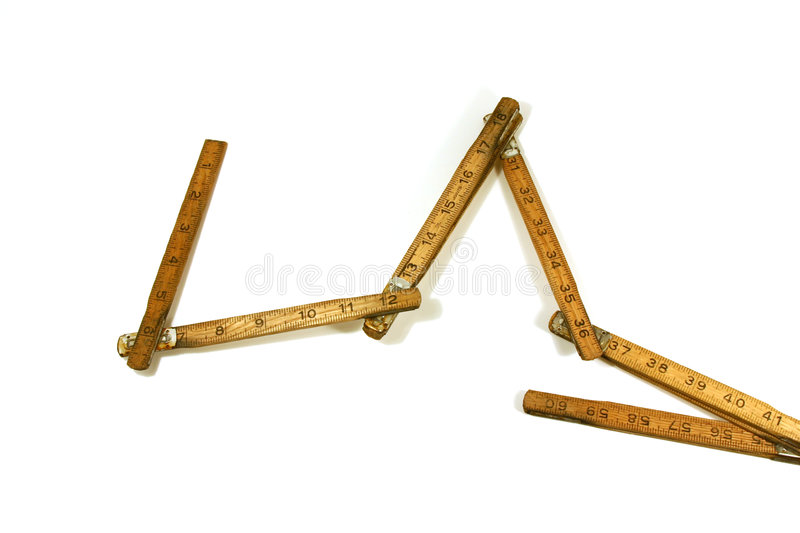 Old Measuring Tape / Ruler royalty free stock photos