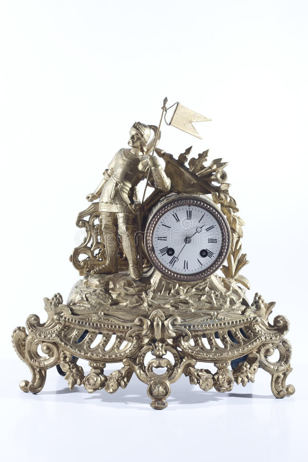 Fireplace Design fireplace clock : Old Mechanical Fireplace Clock With The Knight Stock Images ...