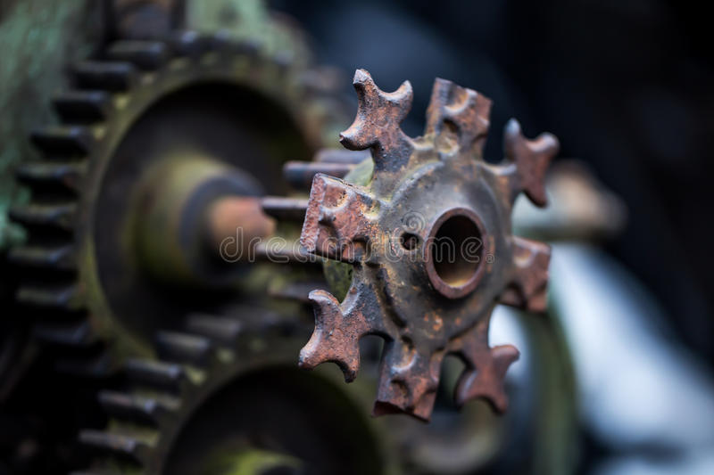 Old mechanical parts. Beautiful old mechanical parts, retro concept, background stock photos
