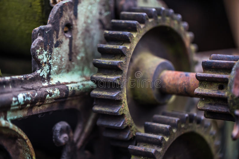 Old mechanical parts. Beautiful old mechanical parts, retro concept, background royalty free stock photography