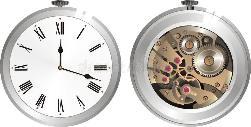 Old mechanical watch. Vector illustration vector illustration