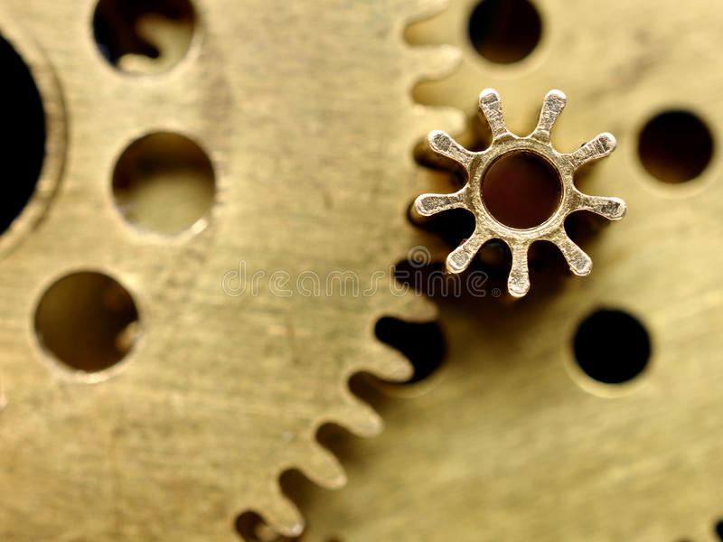 Download Old mechanism with gears stock image. Image of wheel - 22416787