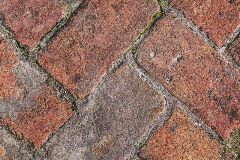 Old Medieval Brick Pavement Pattern Detail