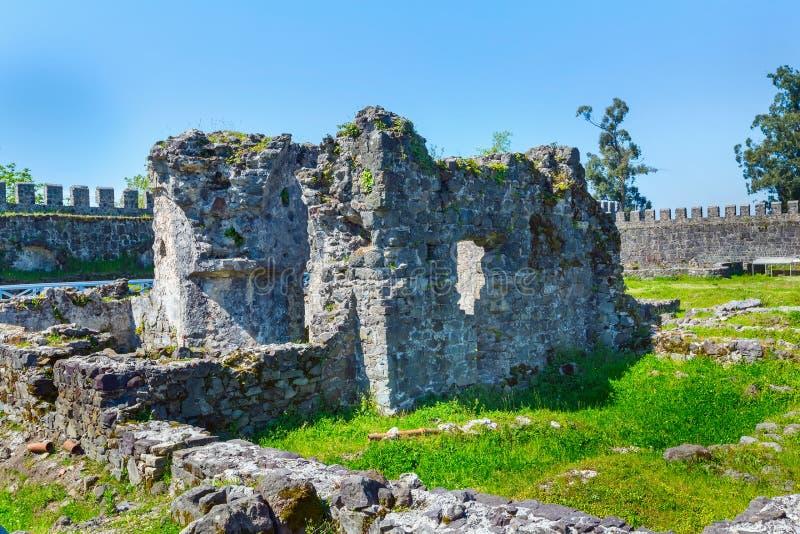 Old medieval byzantine Gonio Aphsaros fortress near Batumi in Georgia royalty free stock photo
