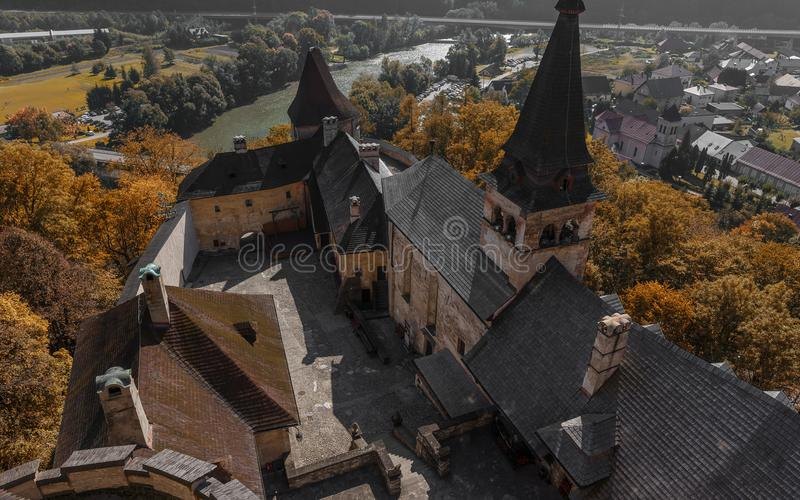 Orava Castle in Slovakia royalty free stock images