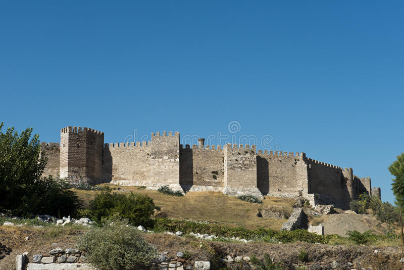 Old Medieval Fort Castle From Middle Ages. An old medieval fort castle from the middle ages with a blue sky in the background stock image