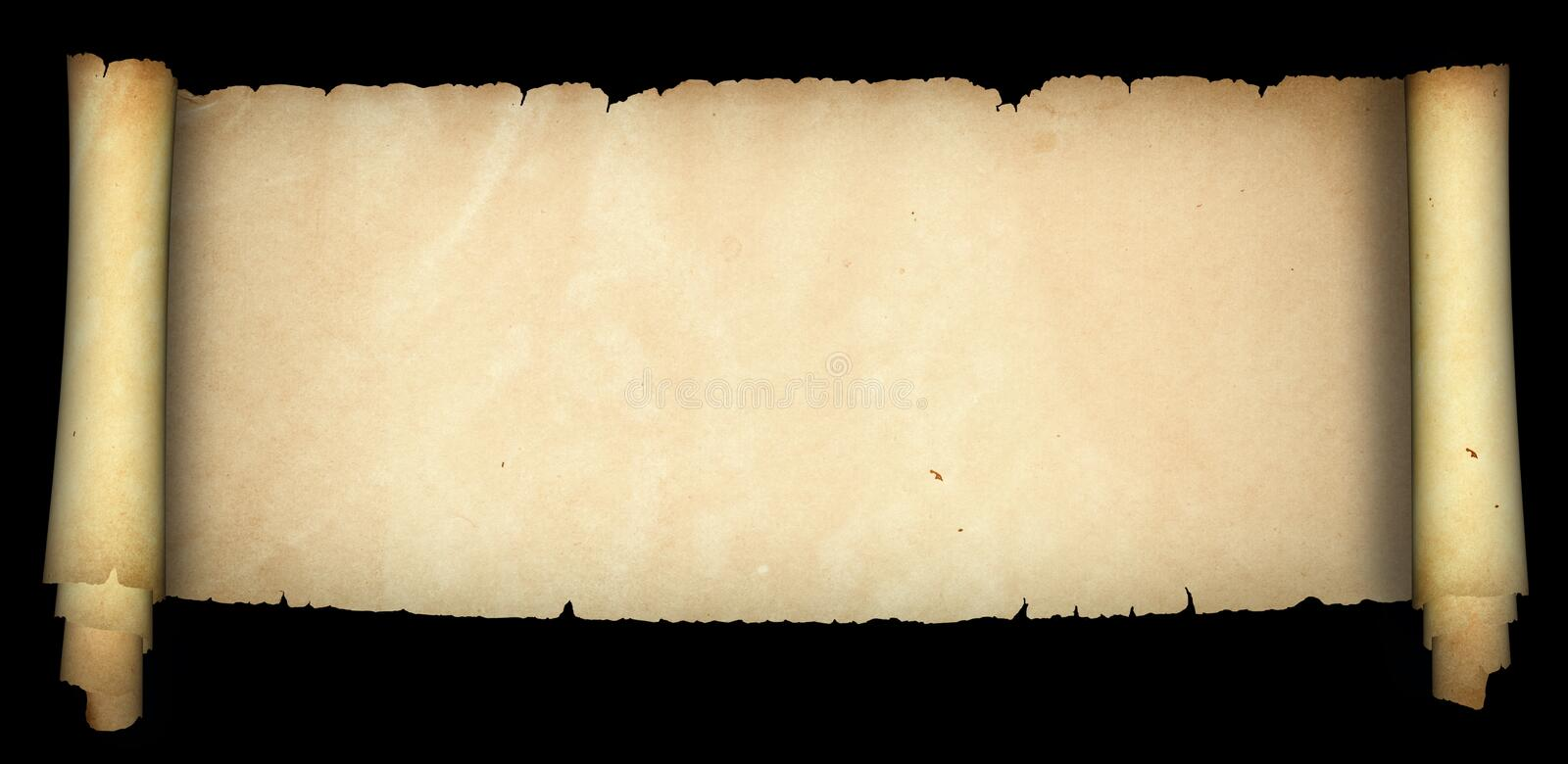 Old medieval parchment. royalty free stock photography