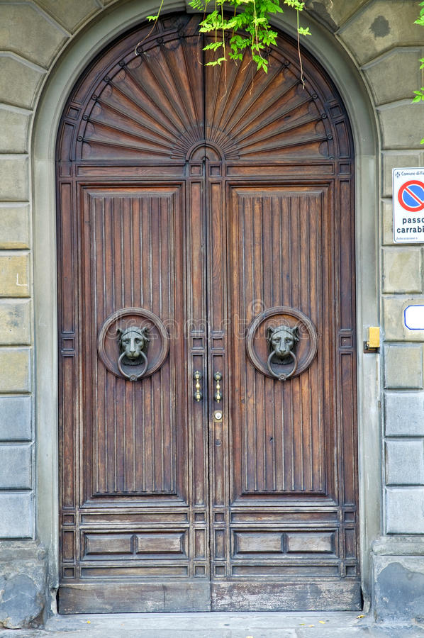 Old medieval style door stock photo image of carved