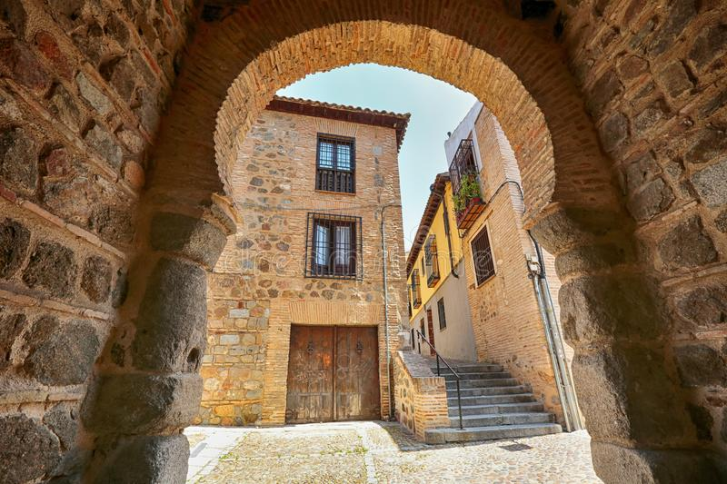 Old medieval town in Toledo, Spain. Old medieval town in the Spanish town Toledo UNESCO World Heritage Site stock photo