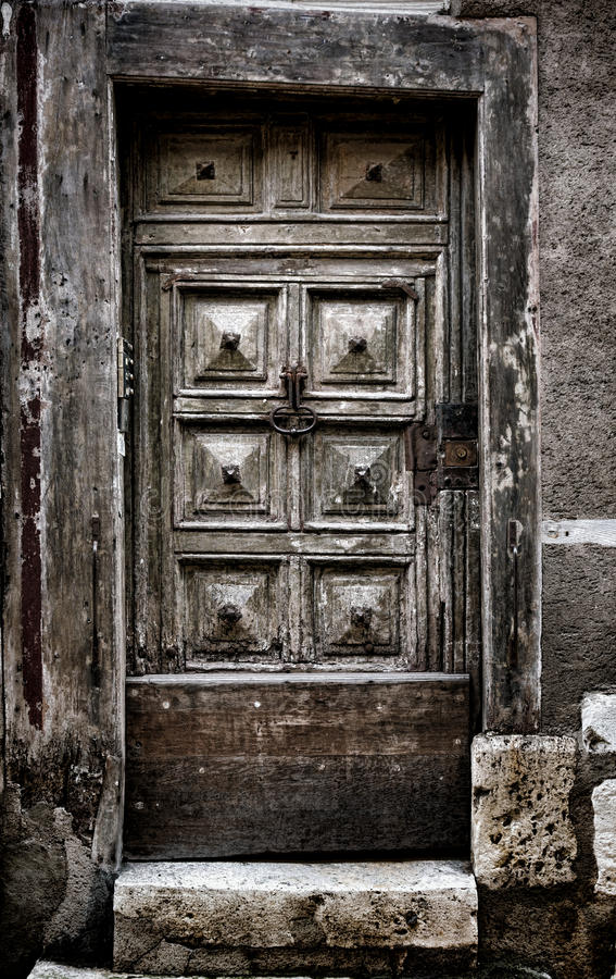 Download Old Medieval Wooden Door In Historic Building Stock Image - Image of door wood & Old Medieval Wooden Door In Historic Building Stock Image - Image of ...