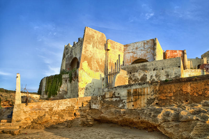 An old Medina in the hills of Tangier in Morocco. In the near of the grotto de hercules royalty free stock image
