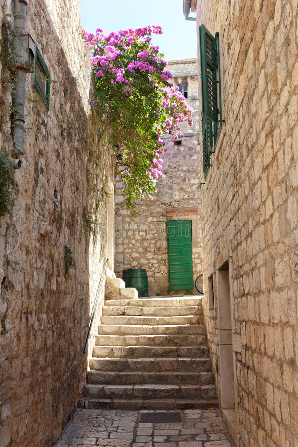Old Mediterranean street royalty free stock images
