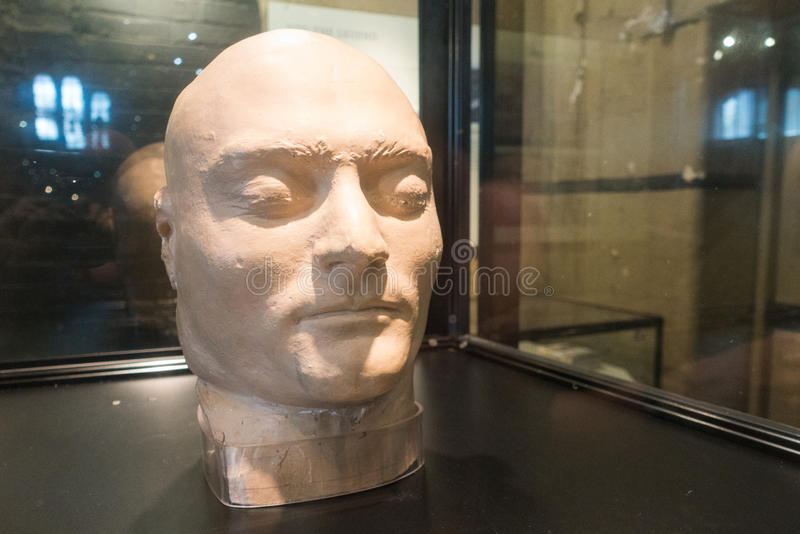 Old Melbourne Gaol - Ned Kelly death mask. Death mask of Ned Kelly, infamous Australian bush ranger, at Old Melbourne Gaol in Victoria, Australia. Photo taken on royalty free stock photo