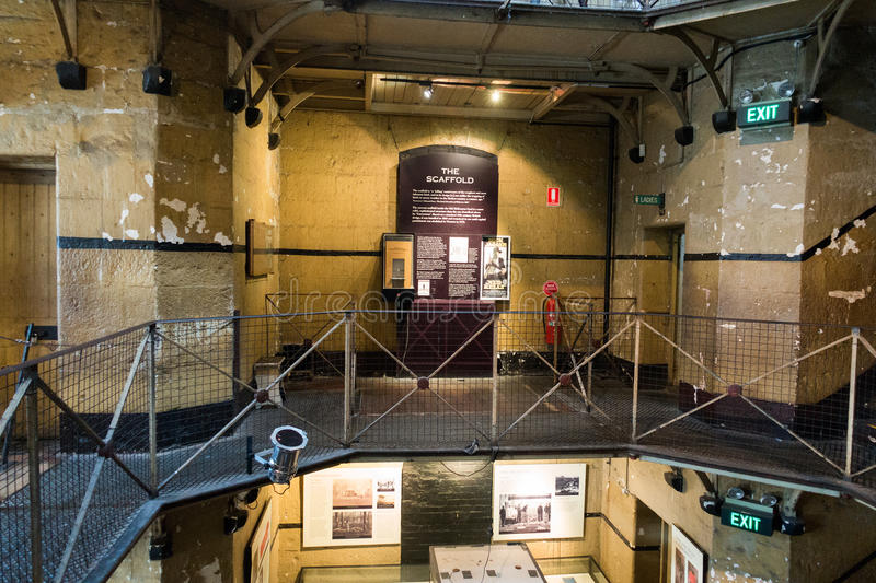 Old Melbourne Gaol. In Victoria, Australia. Photo taken on 11th April, 2015 royalty free stock photography