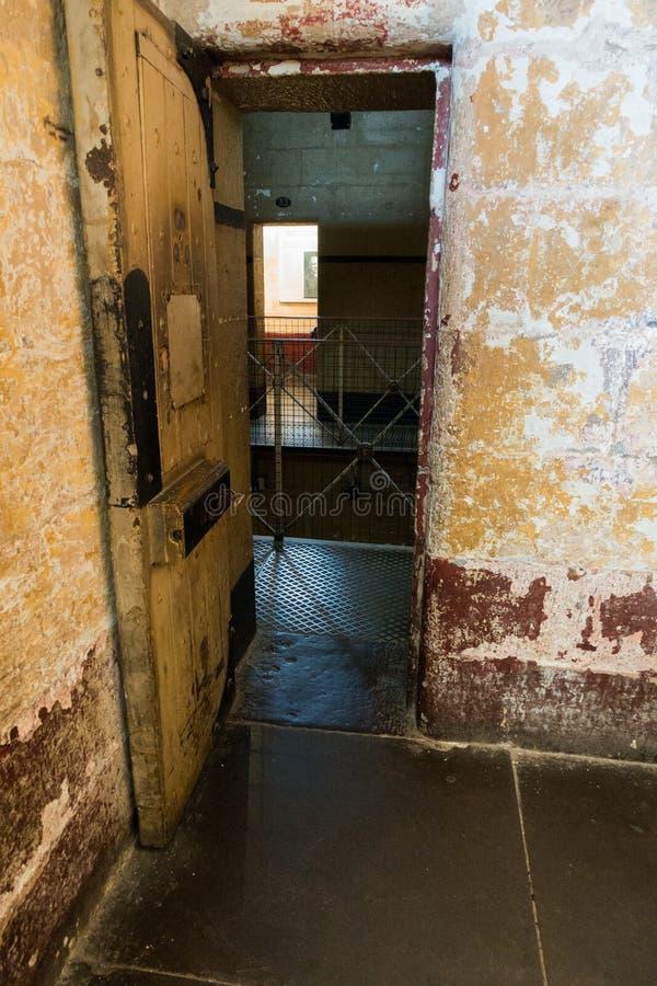 Old Melbourne Gaol. In Victoria, Australia. Photo taken on 11th April, 2015 royalty free stock image