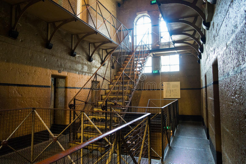 Old Melbourne Gaol. In Victoria, Australia. Photo taken on 11th April, 2015 stock photo