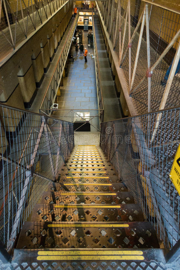 Old Melbourne Gaol. In Victoria, Australia. Photo taken on 11th April, 2015 stock image