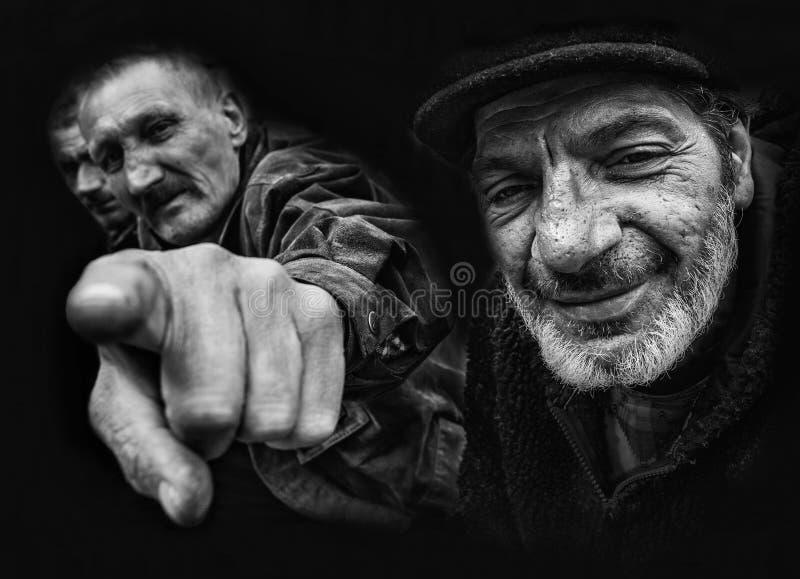 Old men royalty free stock photo