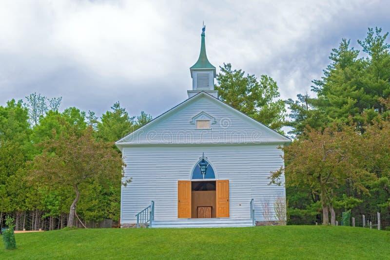 Old Mennonite church in Kitchener, Ontario. Old Mennonite church on the hill in Kitchener, Ontario, Canada stock photo