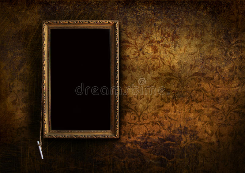 Old menu board with grungy background stock photography