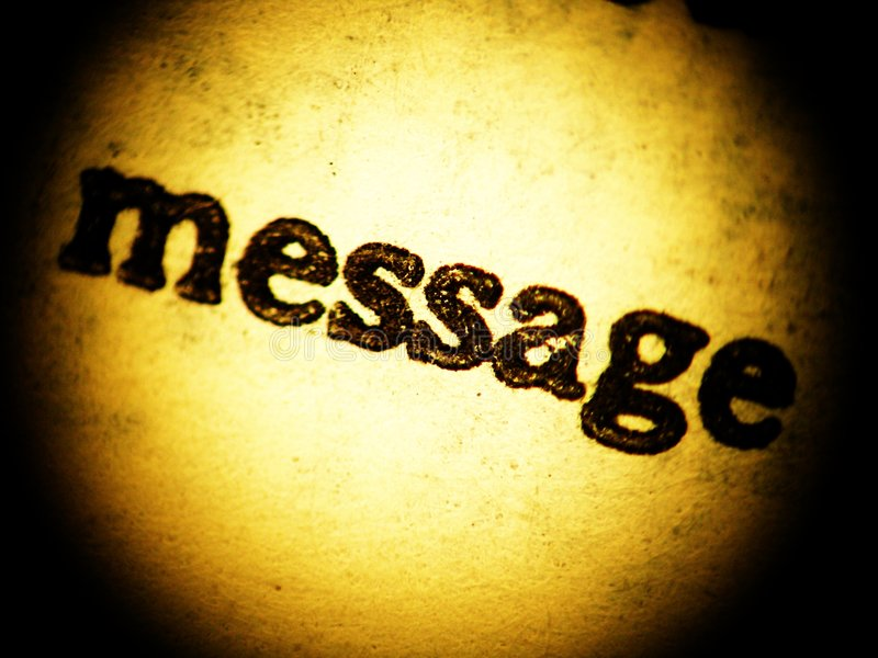 Download Old Message Print - Close Up Stock Image - Image: 1059165