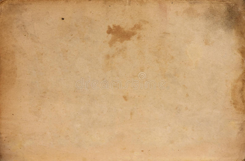 Old messy paper sheet stock photography