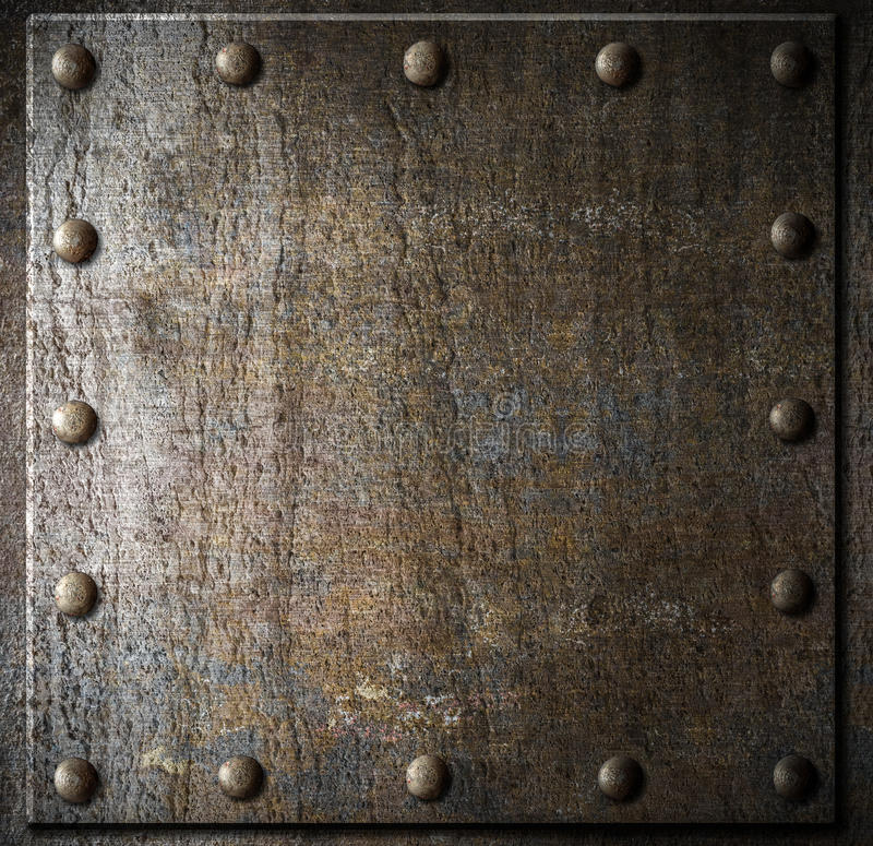 Old Metal Background With Rivets Stock Photo Image 32047310