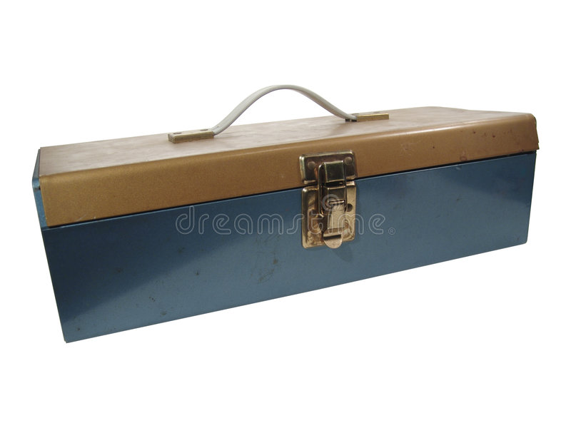 Download Old Metal Box stock image. Image of fastener, chest, blue - 7489