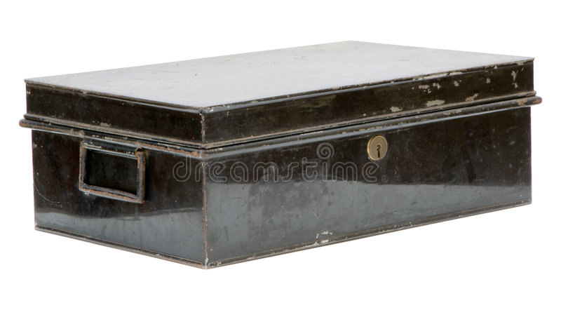 Old metal box stock photography
