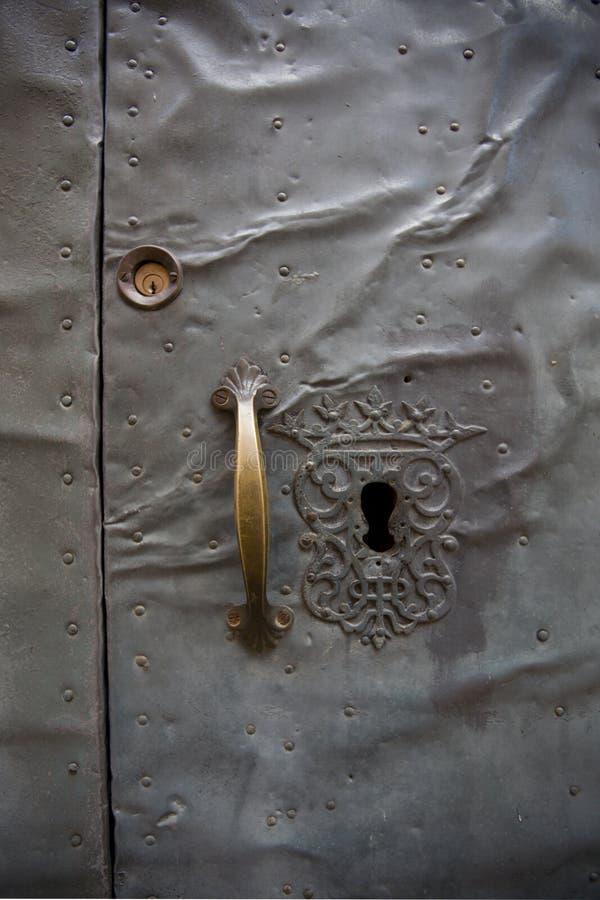 Old metal church door royalty free stock photos