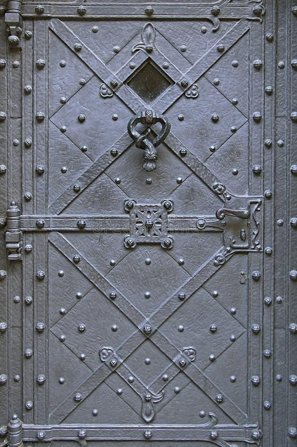 Old metal door background texture royalty free stock image
