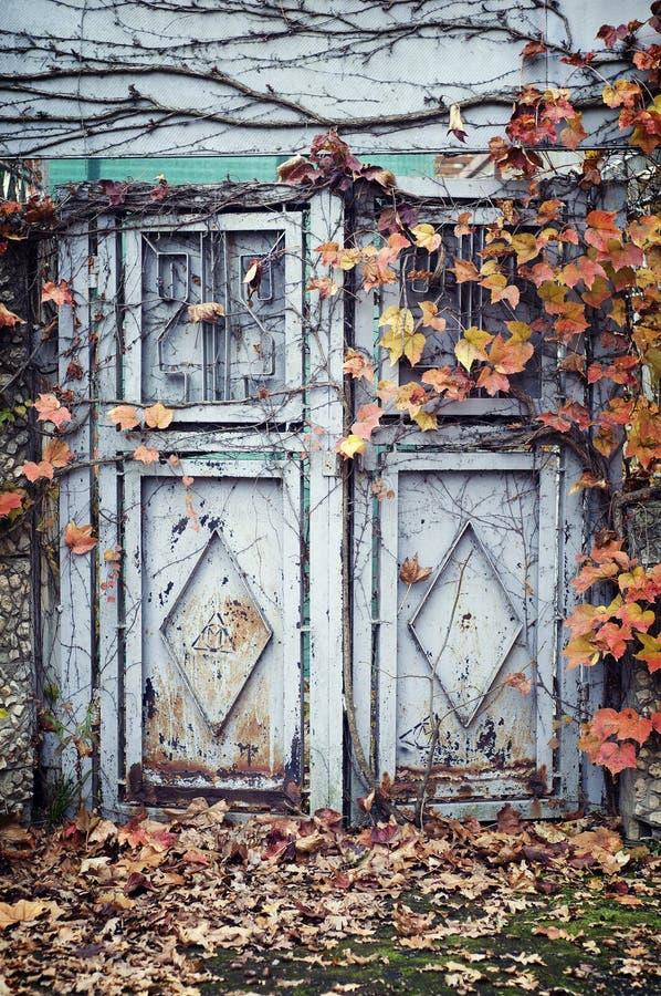 Old metal door. royalty free stock photography