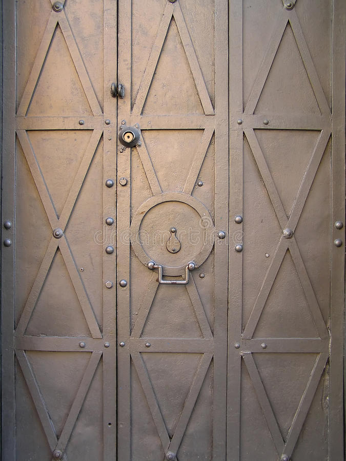Old metal doors. royalty free stock photos