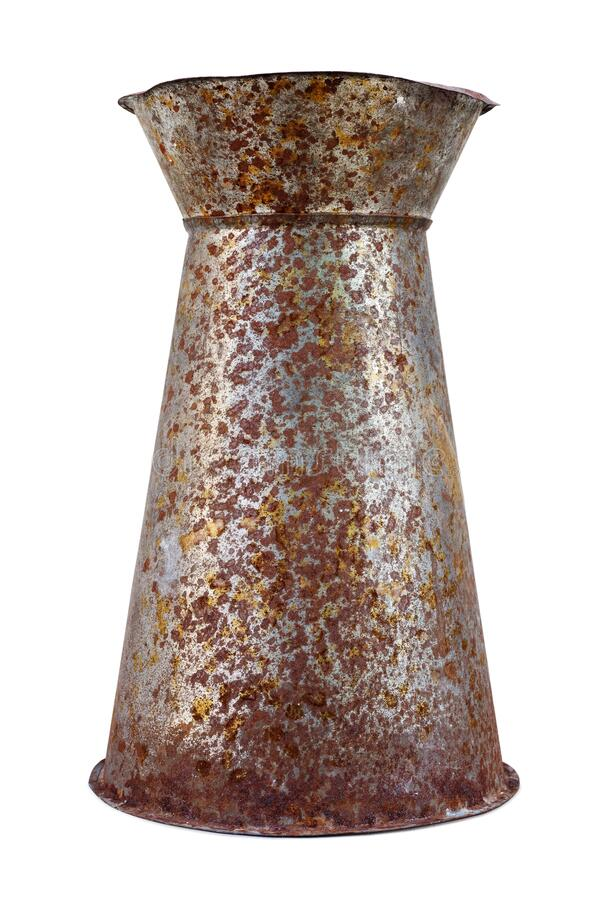 Old metal flower vase royalty free stock photo