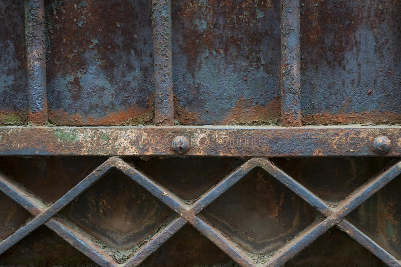 Old metal gate detail royalty free stock photography