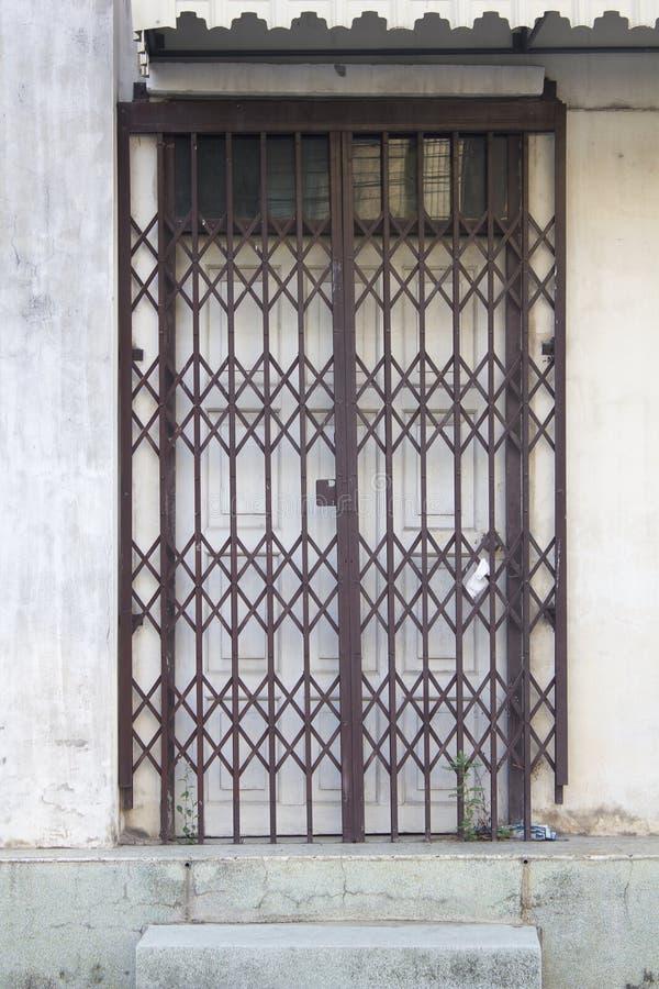 Download Old Metal Grille Sliding Door At Old Town Stock Photo - Image: 59103065 & Old Metal Grille Sliding Door At Old Town Stock Photo - Image ... Pezcame.Com