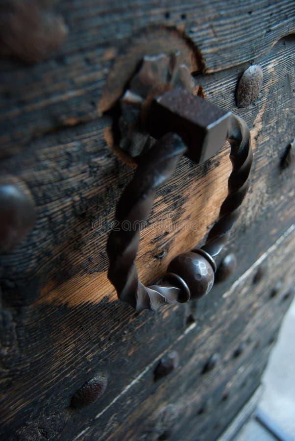 Old metal handle stock photo