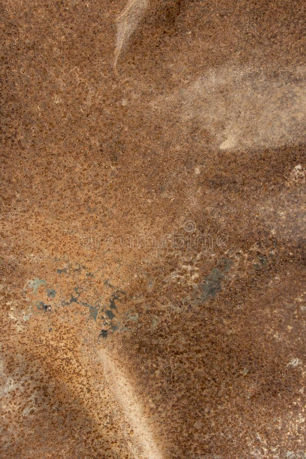 Old metal iron rust backgroun. Brown metal background texture, metal steel vintage plate with some old scratch, brown metal plate royalty free stock photography