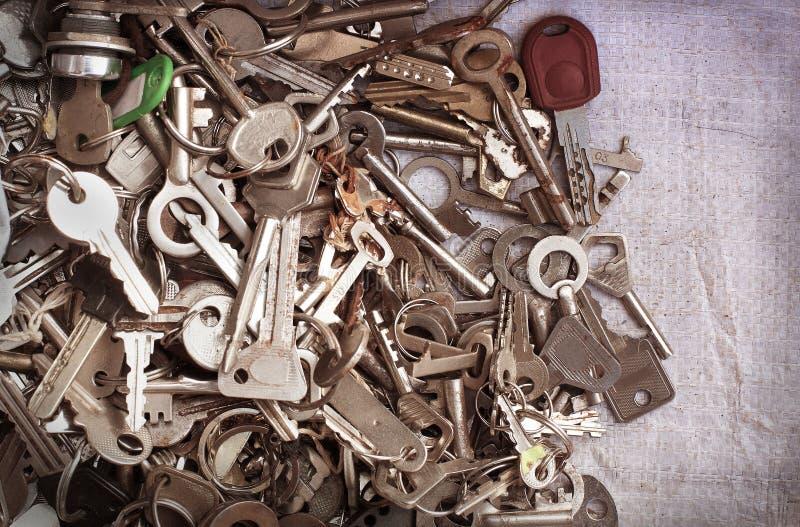Old metal keys stock image