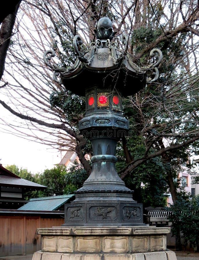 Old metal lantern at Yasukuni Shrine royalty free stock photos
