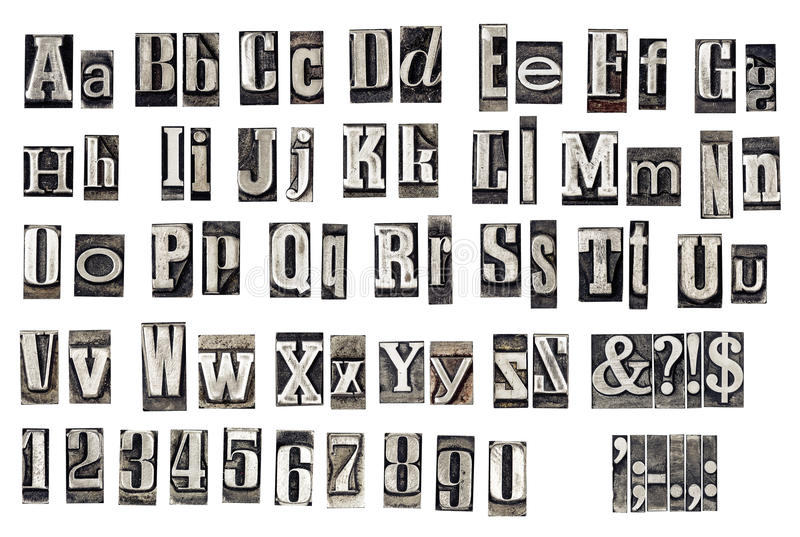 old metal letters royalty free stock images