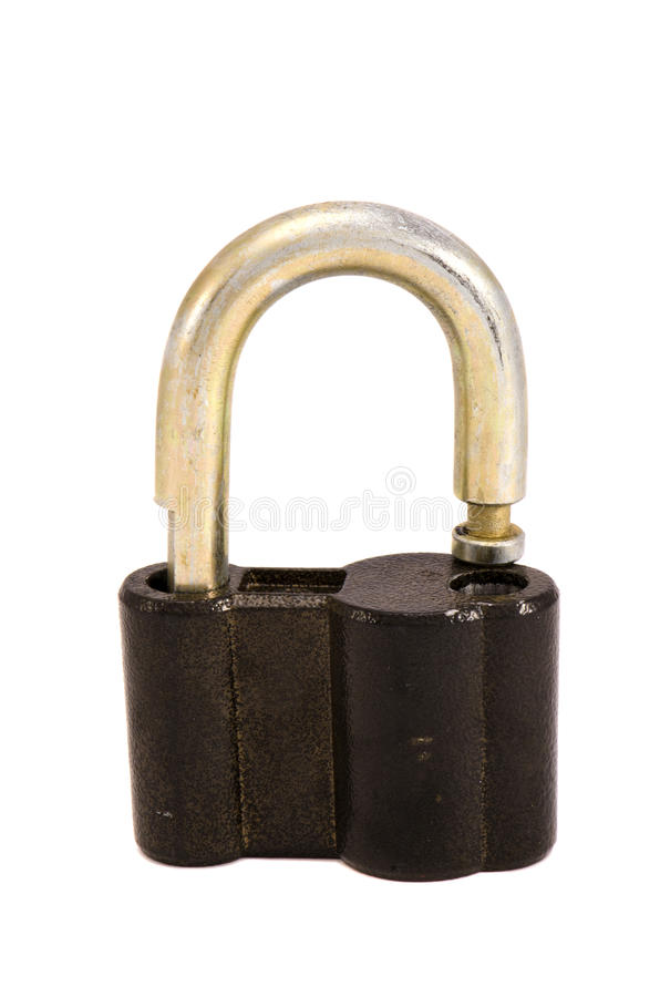 Old Metal Lock Isolated On White Background Stock Images